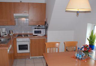 Küche und Essplatz der 29qm Wohnung
