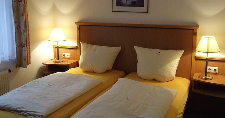 Das Schlafzimmer der 38qm Wohnungen