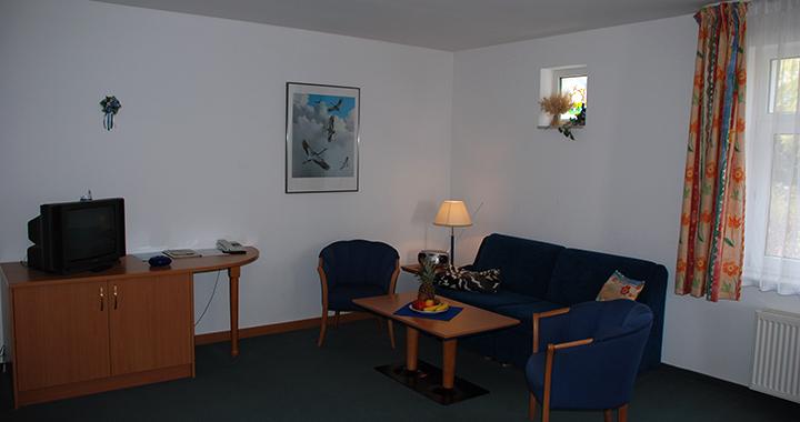 Wohnraum mit Fernseher