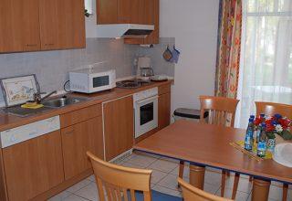 Küche und Essplatz der 49qm Wohnung