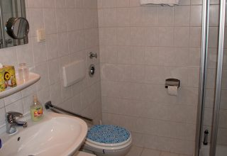 Badezimmer der 49qm Wohnung