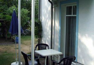 Terrasse der 49qm Wohnung
