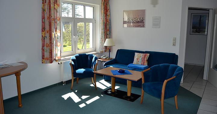 Das Wohnzimmer der 54qm Wohnung